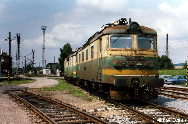 Bild: 130 028 abgestellt in Ceska Trebova.