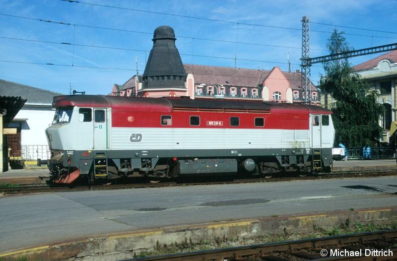 Bild: Die 749 241 wird in kürze den R 647 in Ceske Bodejovice übernehmen.