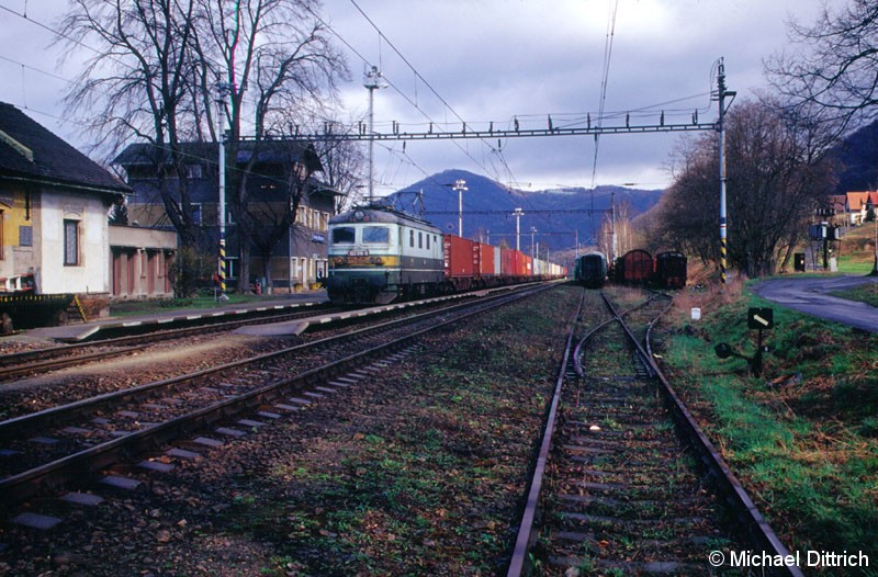 Bild: 122 016 mit Güterzug in Velke Brezno.