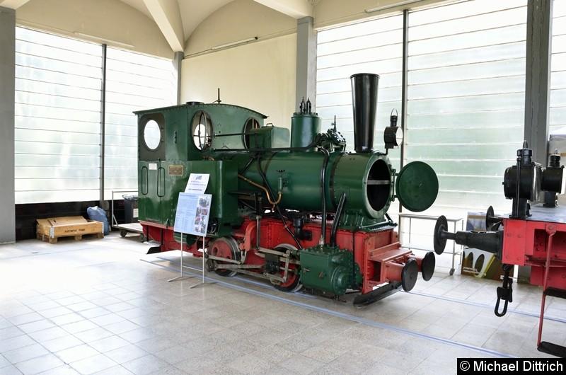 Bild: Schmalspurdampflok 750 mm aus dem Jahre 1926.