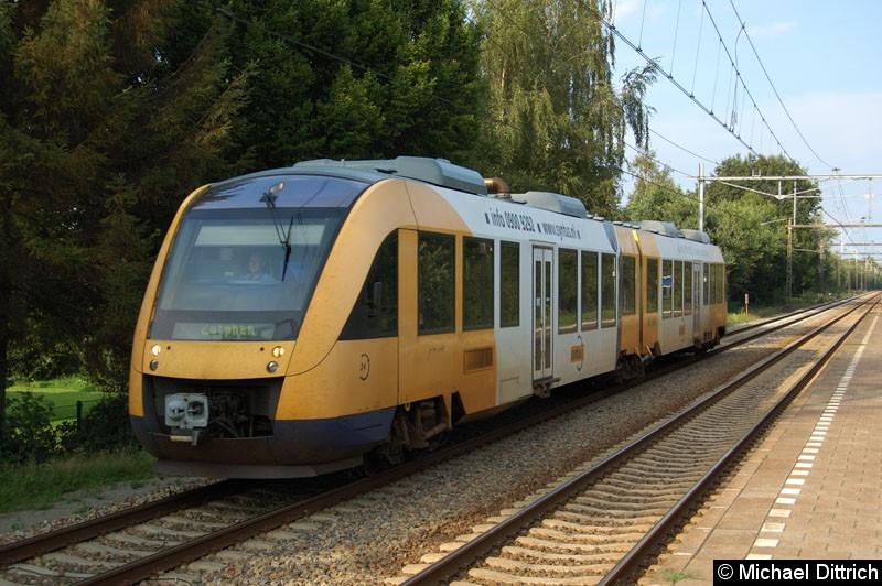 Bild: Triebwagen 24 auf dem Weg nach Zutphen in Hengelo Oost.