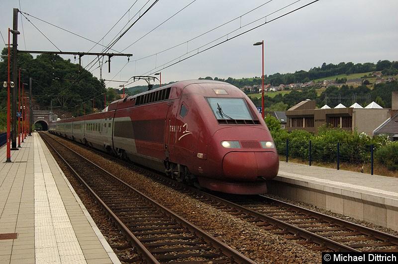 Bild: Thalys 4301 bei der Durchfahrt in Pepinster.