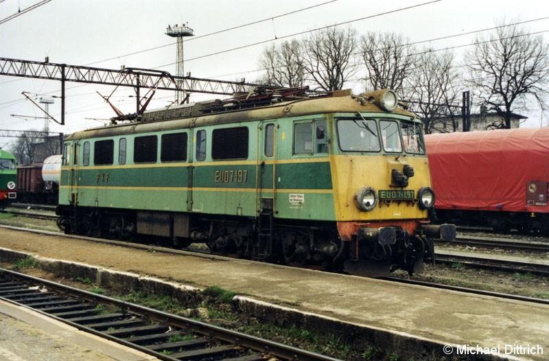 Bild: Auch sie steht in Wegliniec. Die EU 07-197.