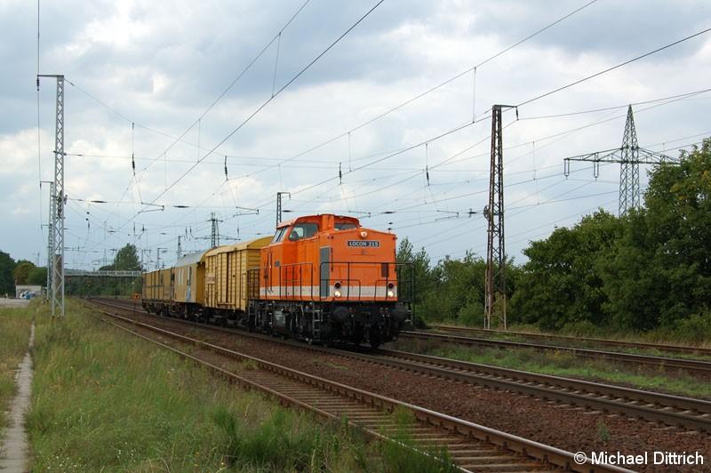 Bild: Locon 215 bei der Durchfahrt in Saarmund.