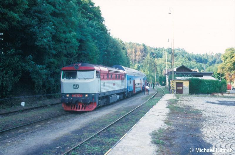 Bild: In Jilové u Prahy hatten wir den Zug wieder eingeholt.