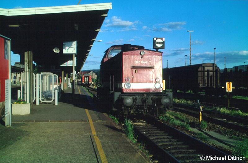 Bild: In Bautzen musste die 202 844 dann umsetzen.