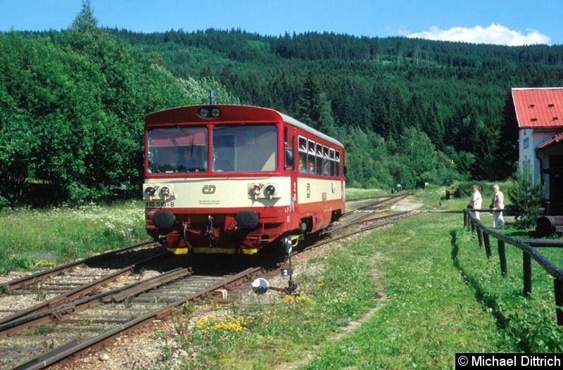 Bild: Hier verlässt der 810 510 Kubova Hut.