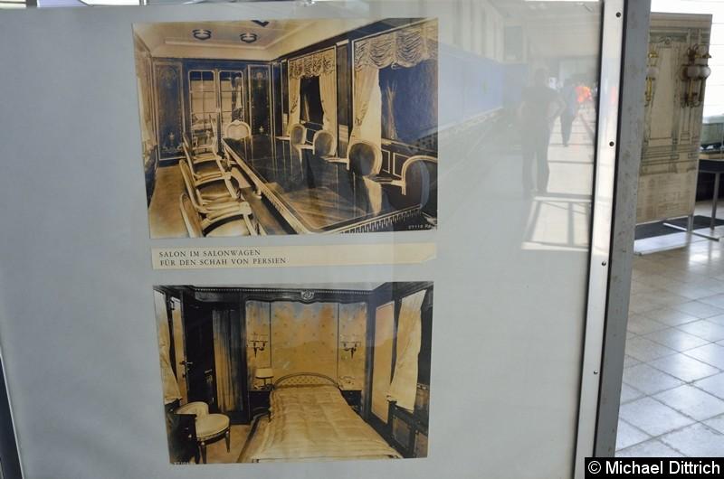 Bild: Im Werk steht auch der Salonwagen des letzten Kaiserpaares. Hier Ausstellungsbilder.