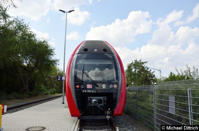 Bild: Der 618 001 ist ein Einzelgänger des Typs Lirex (Leichter Innovativer Regionalexpress).