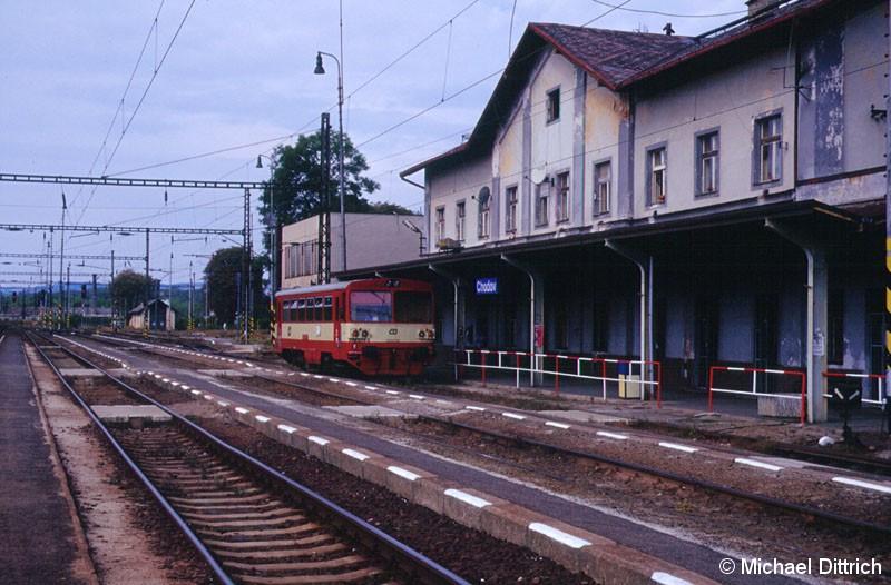 Bild: In Chodov wendete der 810 289 um nach Nová Role zu fahren.