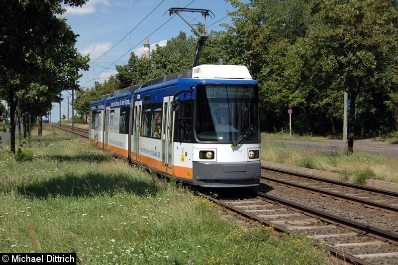 Bild: 1083 als Linie M17 vor der Haltestelle Alt-Friedrichsfelde/Rhinstraße.