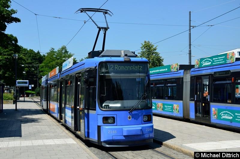 Bild: 2148 als Linie 12 in der Endhaltestelle U Scheidtplatz.