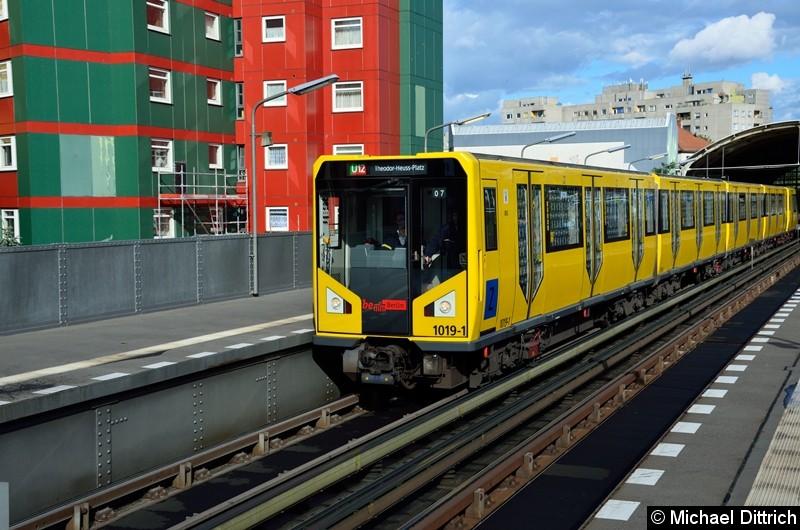 Bild: 1019 als U12/7 im Bahnhof Prinzenstr.