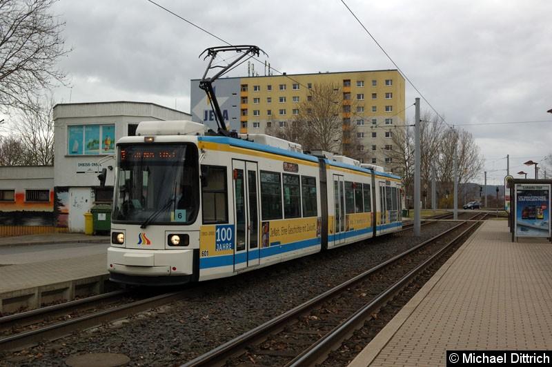 Bild: Wagen 601 als Linie 3 in Lobeda-Ost.
