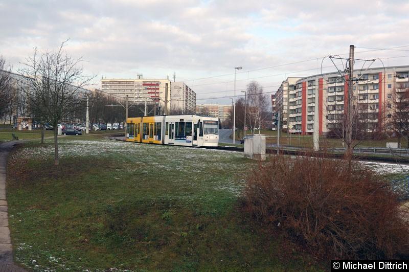 Bild: NGT8G 202 in der Nürnberger Str.