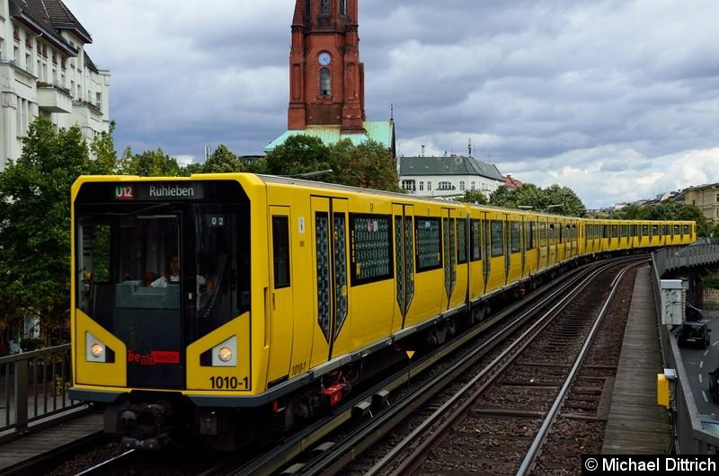 Bild: 1010 als U12/2 bei der Einfahrt in Görlitzer Bahnhof.