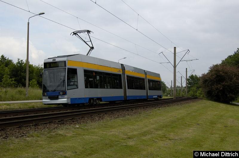 Bild: 1151 zwischen den Haltestellen Paunsdorf-Nord und Ahornstraße.
