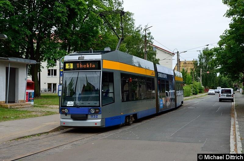 Bild: 1132 als Linie 9 in Markkleeberg West