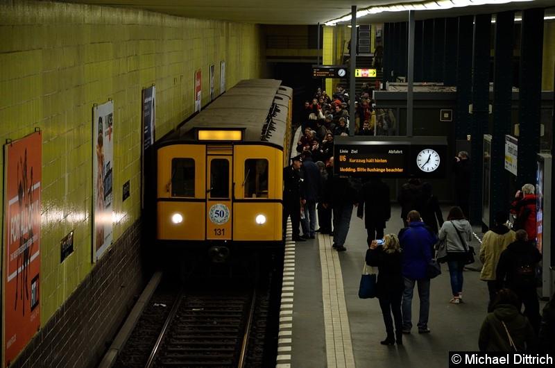 Bild: 131 als Sonderfahrt im Bahnhof Tempelhof.