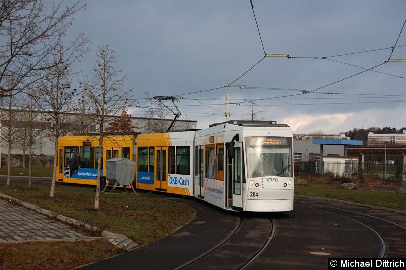 Bild: NGT8G 204 in der Wendeschleife Untermhaus.