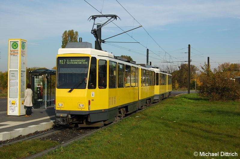 Bild: 6087 als Linie M17 an der Haltestelle Falkenberg.