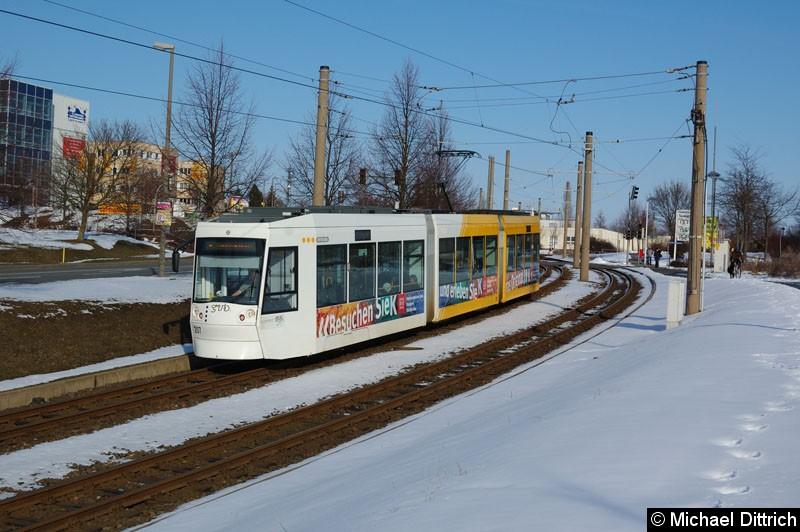 Bild: NGT8G 207 zwischen den Haltestellen Bieblach Ost und Ernst-Abbe-Str.
