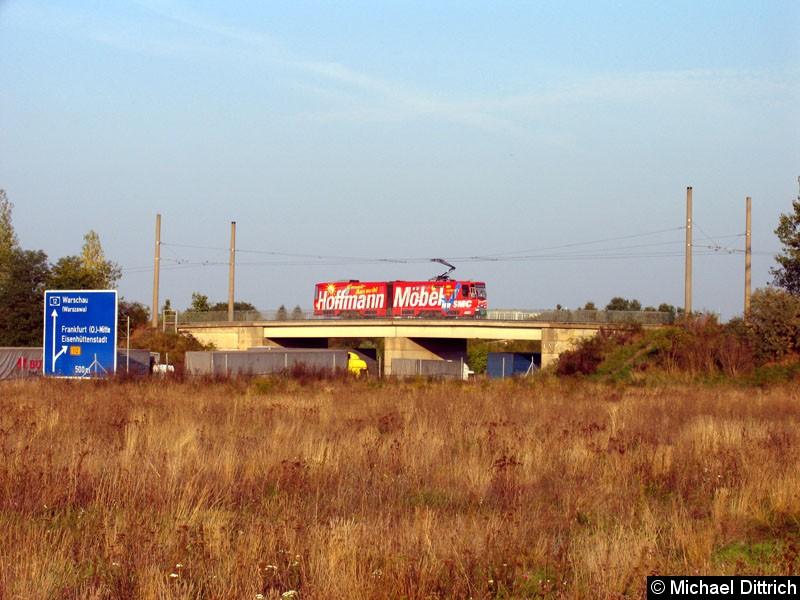 Bild: Hier überquert der 217 die Autobahn A12.