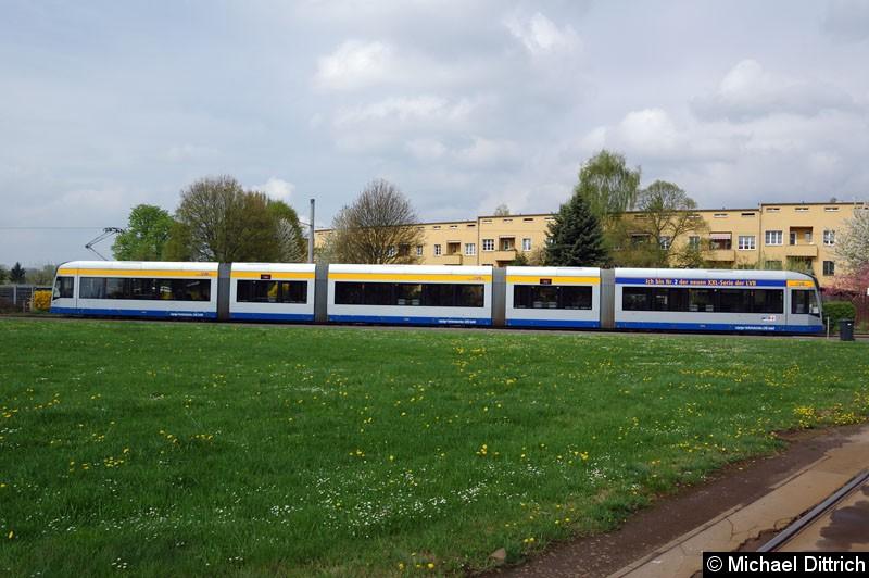 Bild: 1224 als Linie 16 in der Wendeschleife Lößnig.