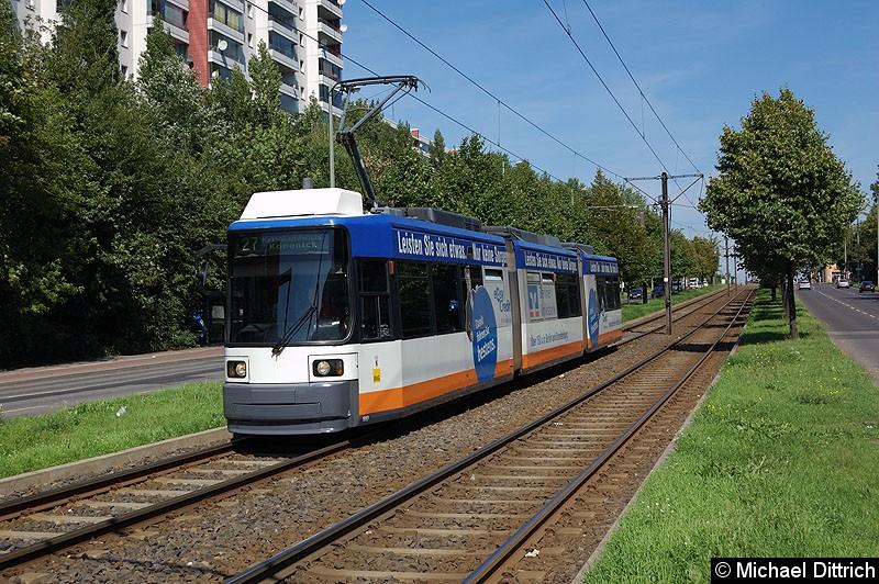 Bild: 1083 als Linie 27 kurz vor der Haltestelle Alt-Friedrichsfelde/Rhinstraße.
