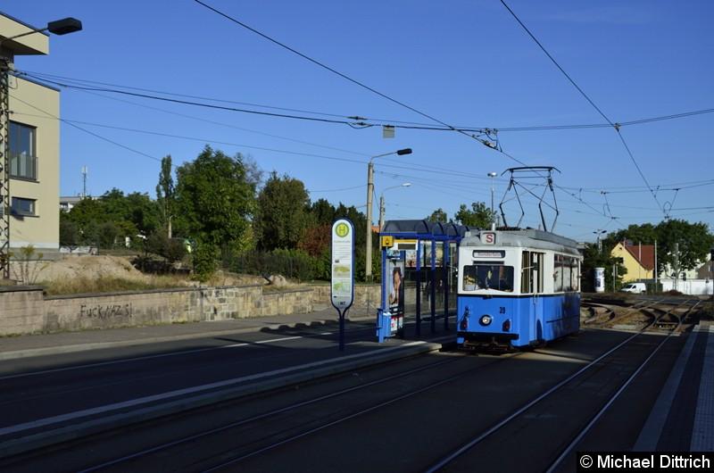 Bild: Ebenfalls am Korso nahm der Wagen 39 teil, der als zweiter Wagen an der Huttenstraße vorbei kam.