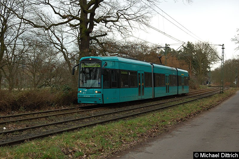Bild: 267 als Linie 12 zwischen Kiesschneise und Waldau.