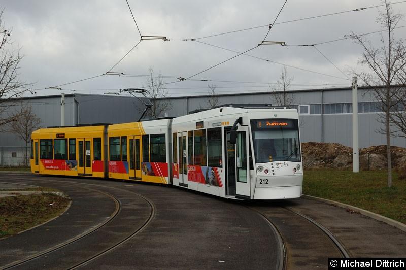 Bild: NGT8G 212 in der Wendeschleife Untermhaus.