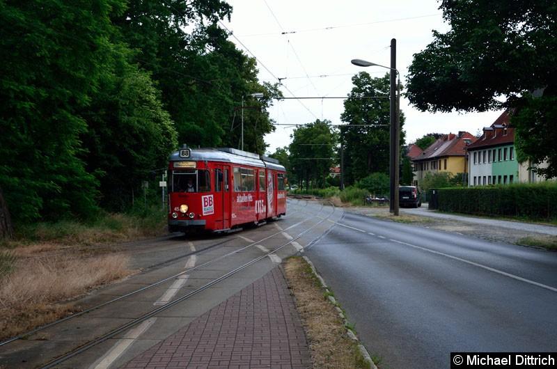 Bild: Wagen 45 auf dem Weg zum S-Bf. Friedrichshagen.