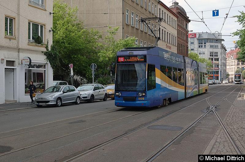 Bild: 1108 als Linie 10 kurz vor dem Hauptbahnhof.