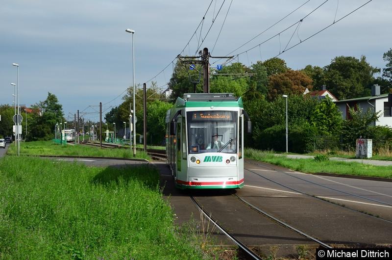 1380 als Linie 1 beim Erreichen der Haltestelle Westring.