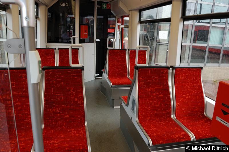 Bild: Blick in den Innenraum des MGTK-2. Die Sitze sind so hart wie sie aussehen.