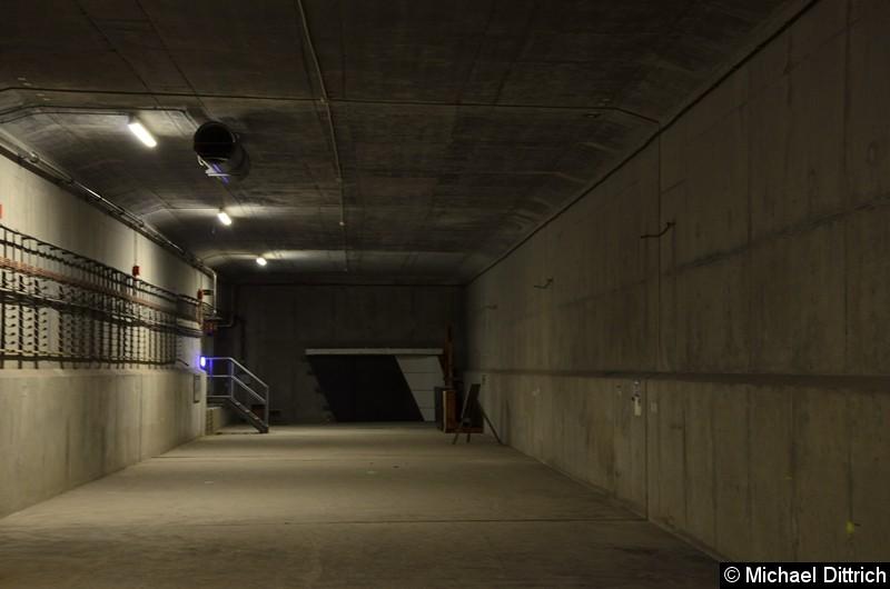 Bild: Eigentlich sollte die U5 mal nach Turmstraße weiter gebaut werden. Hier ein Tunnel als Vorleistung.
